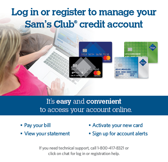 Manage Your Sam's Club Credit Card Account